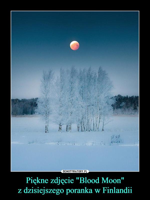 """Piękne zdjęcie """"Blood Moon""""z dzisiejszego poranka w Finlandii –"""