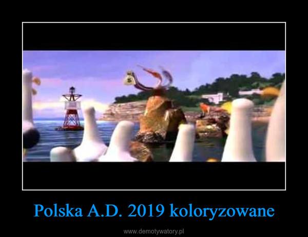 Polska A.D. 2019 koloryzowane –