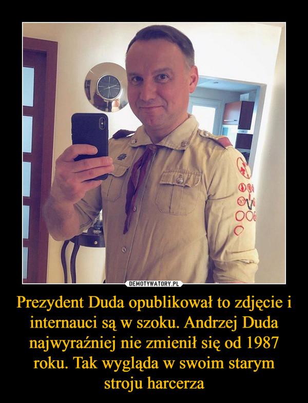 Prezydent Duda opublikował to zdjęcie i internauci są w szoku. Andrzej Duda najwyraźniej nie zmienił się od 1987 roku. Tak wygląda w swoim starym stroju harcerza –