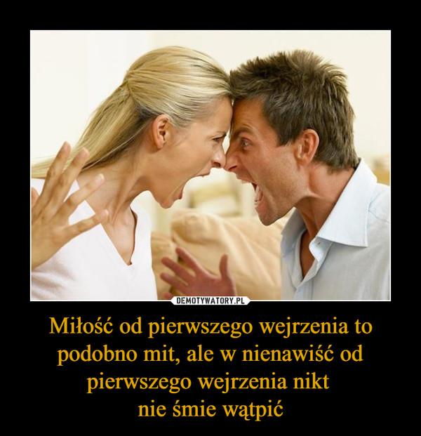 Miłość od pierwszego wejrzenia to podobno mit, ale w nienawiść od pierwszego wejrzenia nikt nie śmie wątpić –