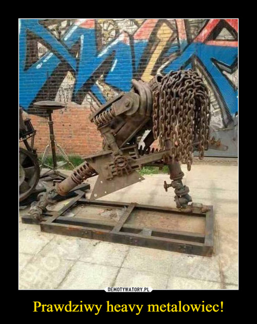 Prawdziwy heavy metalowiec!