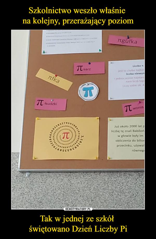 Tak w jednej ze szkół świętowano Dzień Liczby Pi –