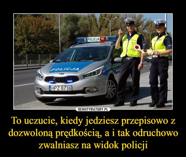 To uczucie, kiedy jedziesz przepisowo z dozwoloną prędkością, a i tak odruchowo zwalniasz na widok policji –