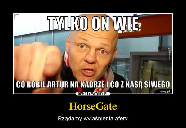 HorseGate – Rządamy wyjaśnienia afery