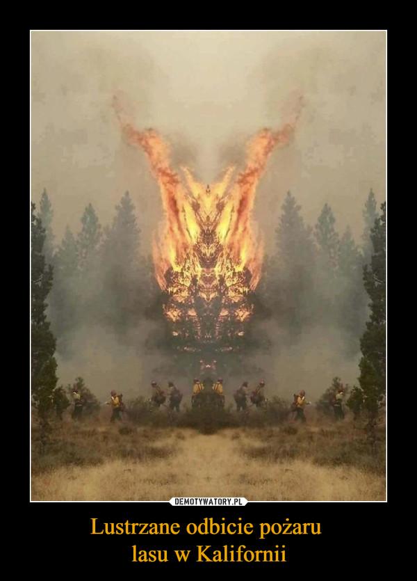 Lustrzane odbicie pożaru lasu w Kalifornii –