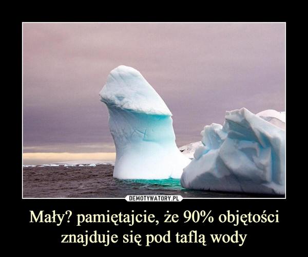 Mały? pamiętajcie, że 90% objętości znajduje się pod taflą wody –