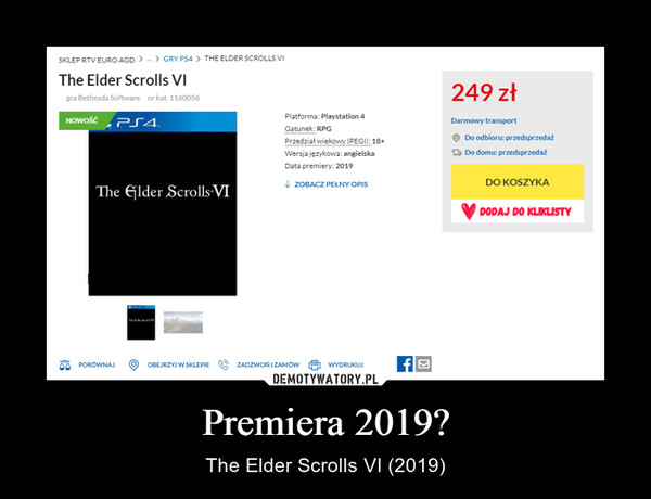 Premiera 2019? – The Elder Scrolls VI (2019)