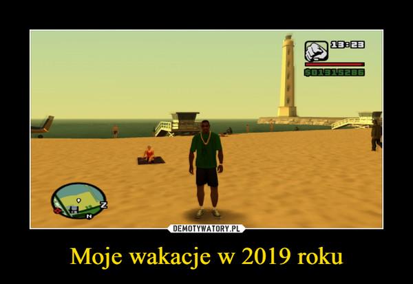 Moje wakacje w 2019 roku –