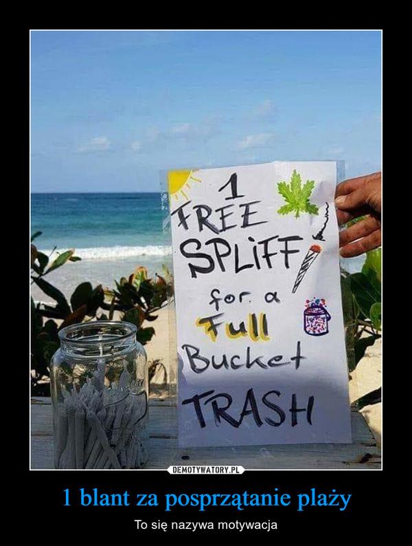 1 blant za posprzątanie plaży – To się nazywa motywacja