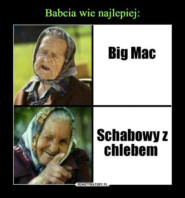 –  Big MacSchabowy z chlebem