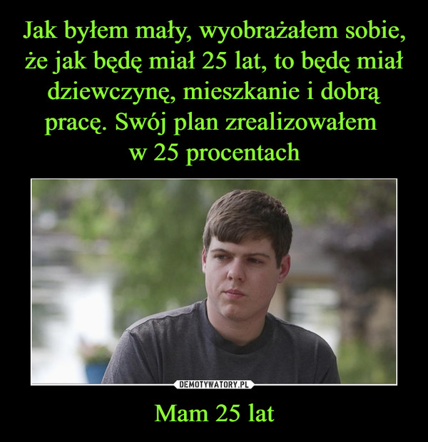 Mam 25 lat –