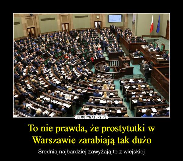 To nie prawda, że prostytutki w Warszawie zarabiają tak dużo – Średnią najbardziej zawyżają te z wiejskiej