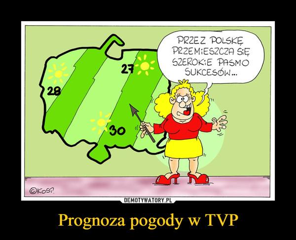 Prognoza pogody w TVP –  PRZEZ POLSKĘ PRZEMIESZCZA SIĘ SZEROKIE PASMO SUKCESÓW...
