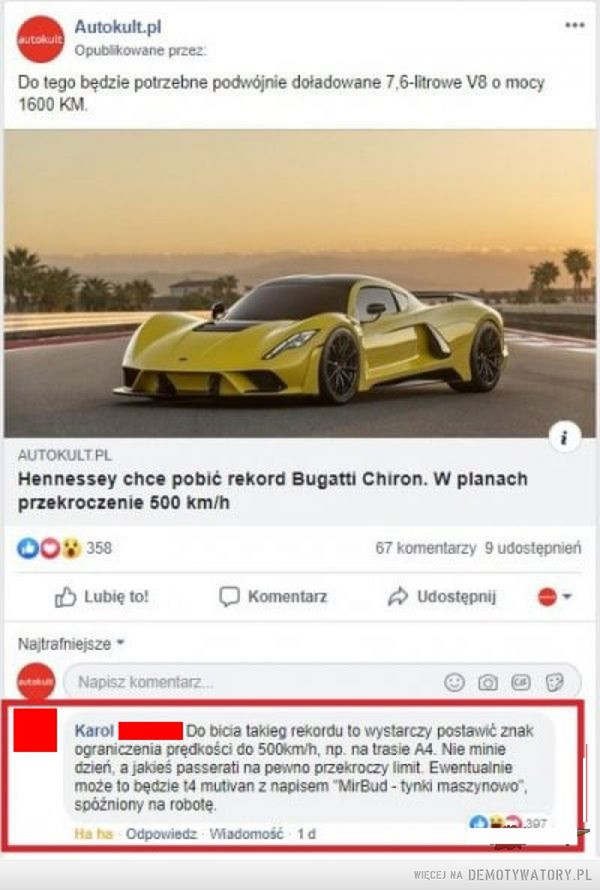 Jak pobić rekord Bugatti –