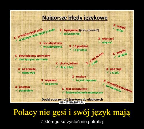 Polacy nie gęsi i swój język mają