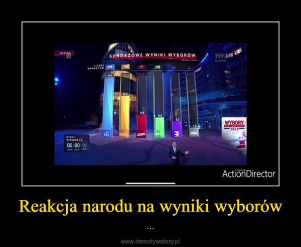 Reakcja narodu na wyniki wyborów – ...