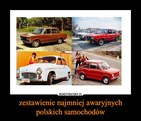 zestawienie najmniej awaryjnych polskich samochodów –