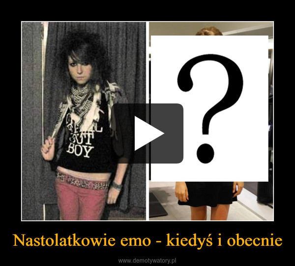 Nastolatkowie emo - kiedyś i obecnie –