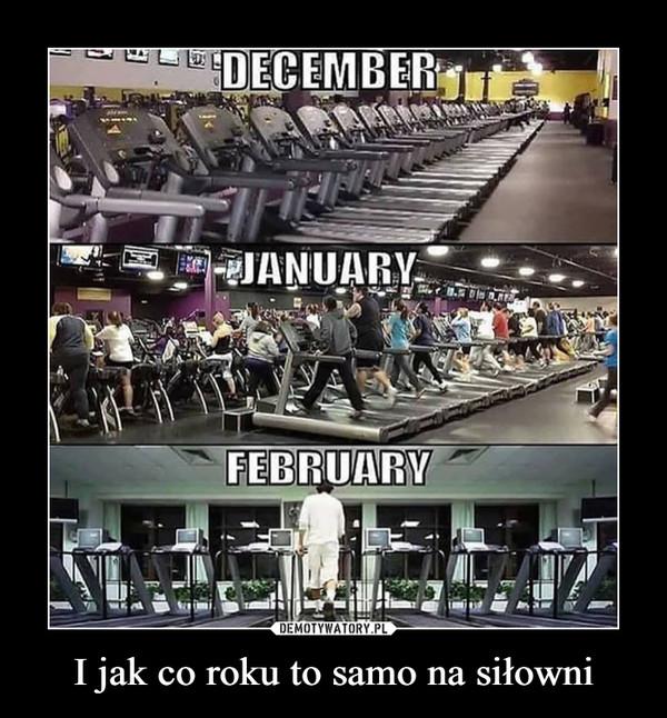 I jak co roku to samo na siłowni –