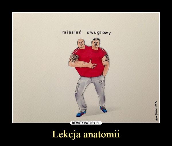 Lekcja anatomii –