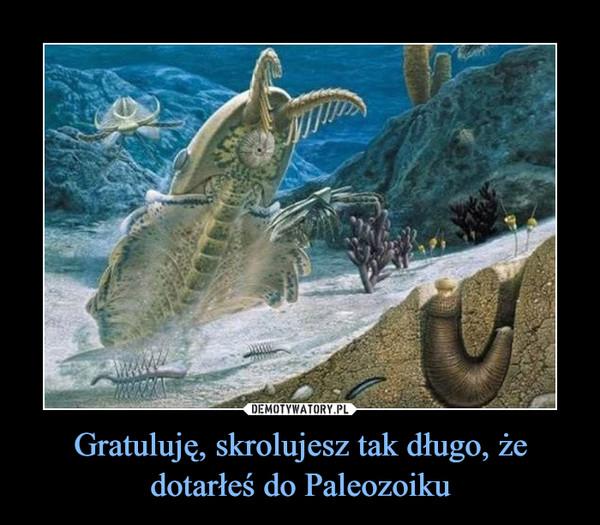 Gratuluję, skrolujesz tak długo, że dotarłeś do Paleozoiku –
