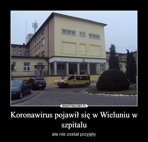 Koronawirus pojawił się w Wieluniu w szpitalu