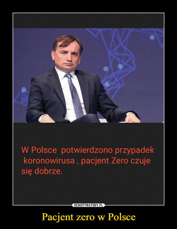 Pacjent zero w Polsce –