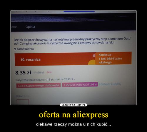 oferta na aliexpress