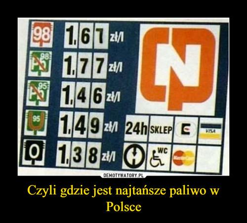 Czyli gdzie jest najtańsze paliwo w Polsce