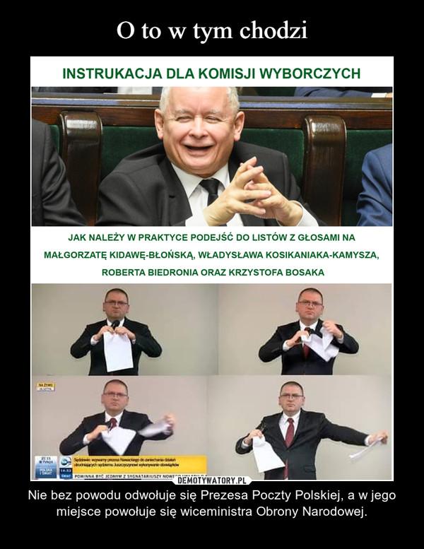 – Nie bez powodu odwołuje się Prezesa Poczty Polskiej, a w jego miejsce powołuje się wiceministra Obrony Narodowej.