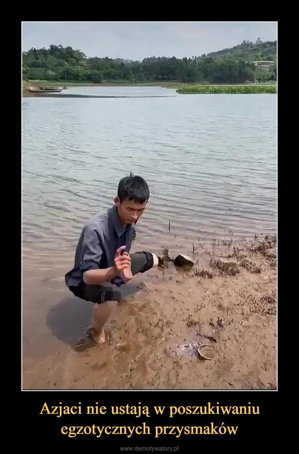 Azjaci nie ustają w poszukiwaniu egzotycznych przysmaków –