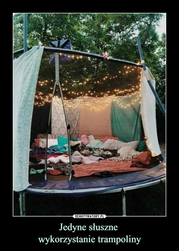 Jedyne słuszne wykorzystanie trampoliny –