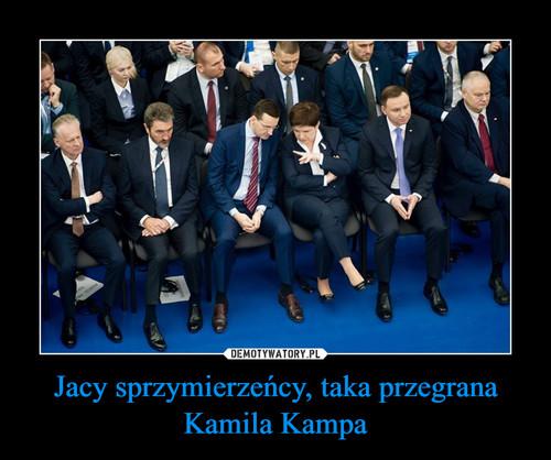 Jacy sprzymierzeńcy, taka przegrana Kamila Kampa