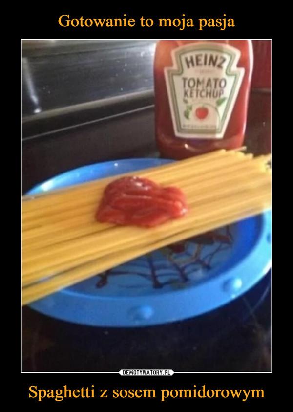 Spaghetti z sosem pomidorowym –