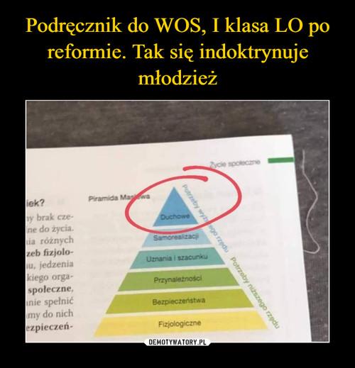 Podręcznik do WOS, I klasa LO po reformie. Tak się indoktrynuje młodzież