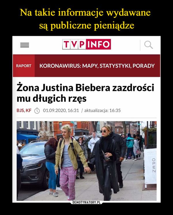 –  Zona Justina Biebera zazdrościmu długich rzęs