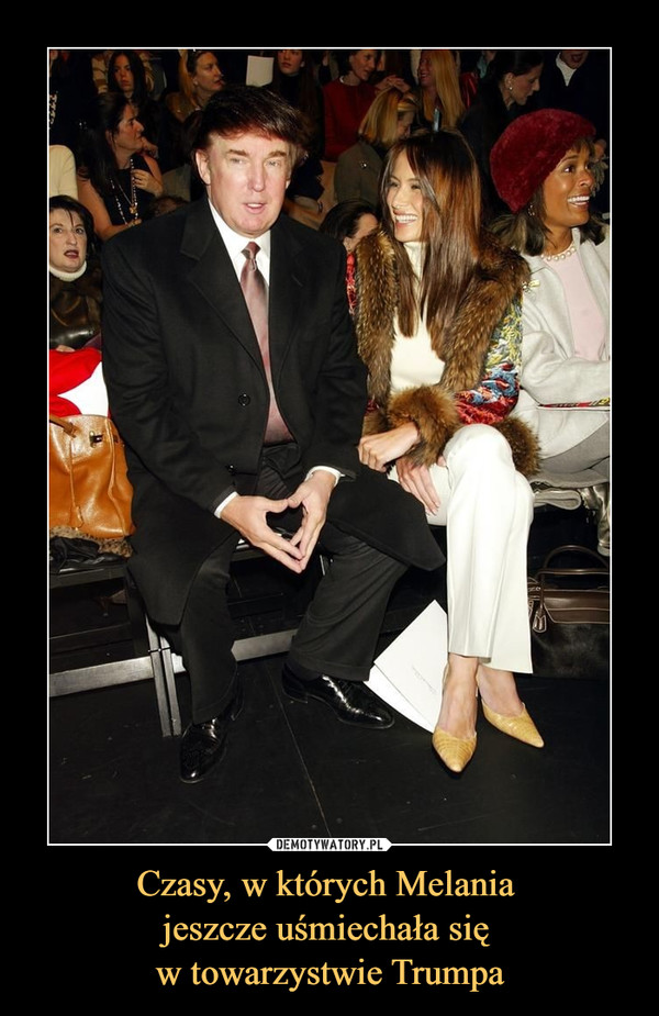 Czasy, w których Melania jeszcze uśmiechała się w towarzystwie Trumpa –