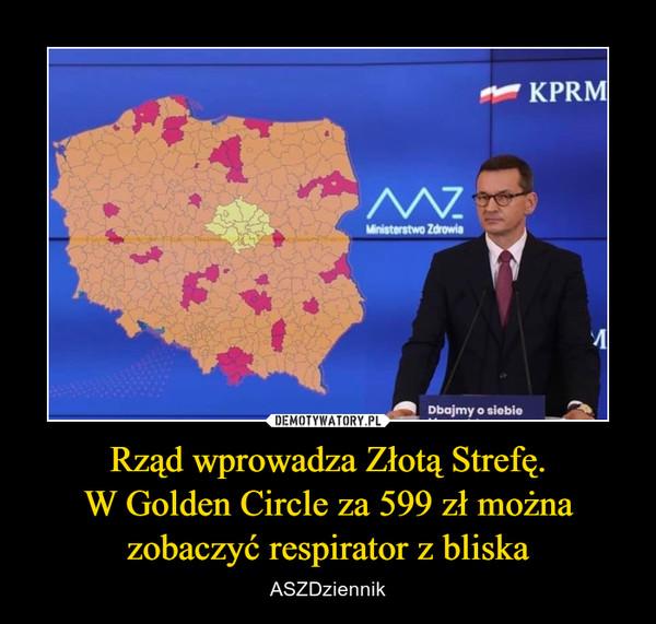 Rząd wprowadza Złotą Strefę.W Golden Circle za 599 zł możnazobaczyć respirator z bliska – ASZDziennik