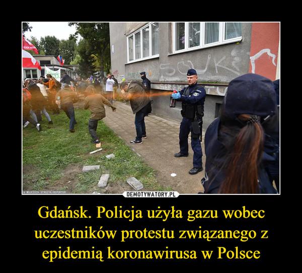 Gdańsk. Policja użyła gazu wobec uczestników protestu związanego z epidemią koronawirusa w Polsce –