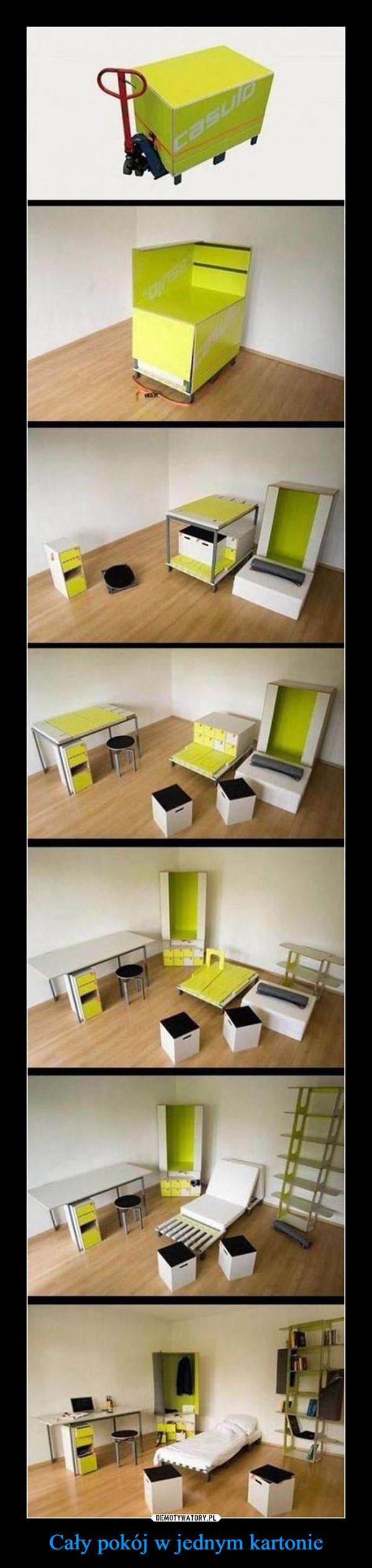 Cały pokój w jednym kartonie –