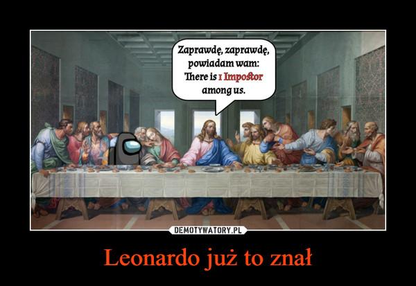 Leonardo już to znał –