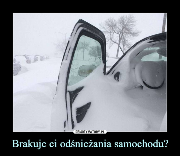 Brakuje ci odśnieżania samochodu? –