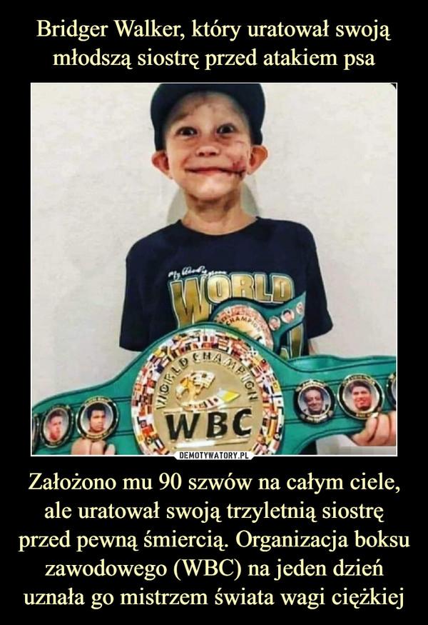 Założono mu 90 szwów na całym ciele, ale uratował swoją trzyletnią siostrę przed pewną śmiercią. Organizacja boksu zawodowego (WBC) na jeden dzień uznała go mistrzem świata wagi ciężkiej –