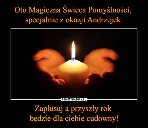 Oto Magiczna Świeca Pomyślności,  specjalnie z okazji Andrzejek: Zaplusuj a przyszły rok  będzie dla ciebie cudowny!