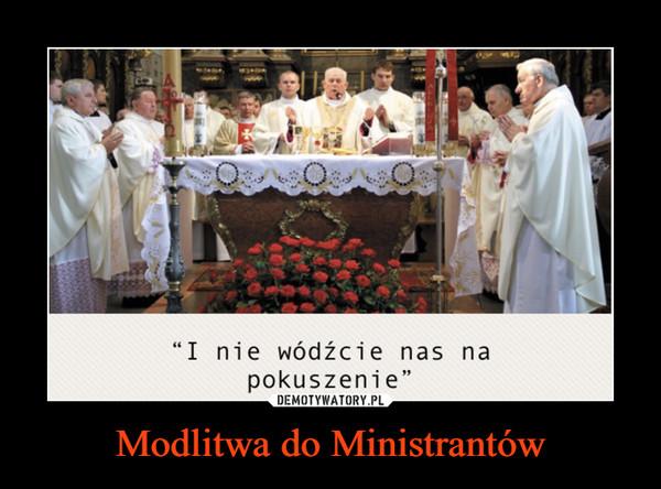 Modlitwa do Ministrantów –