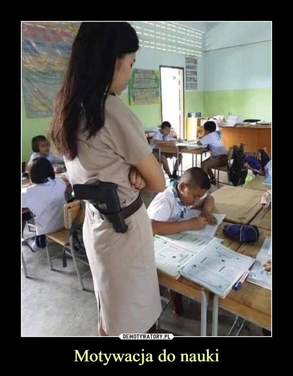 Motywacja do nauki –