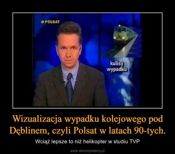 Wizualizacja wypadku kolejowego pod Dęblinem, czyli Polsat w latach 90-tych. – Wciąż lepsze to niż helikopter w studiu TVP