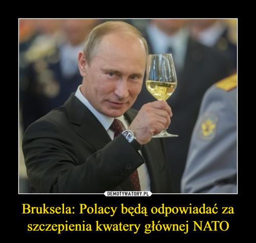 Bruksela: Polacy będą odpowiadać za szczepienia kwatery głównej NATO