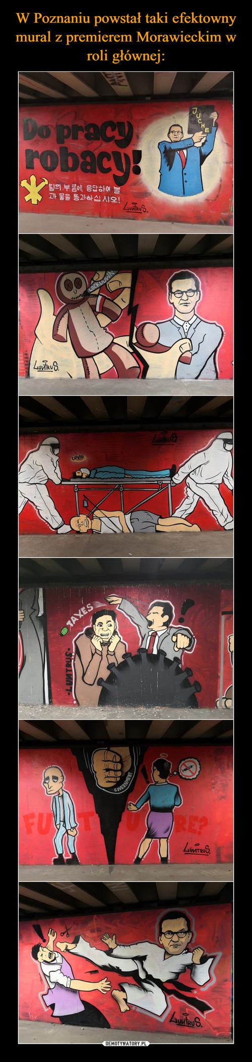 W Poznaniu powstał taki efektowny mural z premierem Morawieckim w roli głównej: