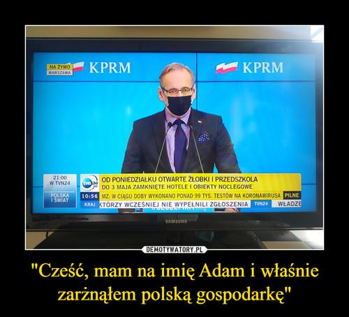 """""""Cześć, mam na imię Adam i właśnie zarżnąłem polską gospodarkę"""""""